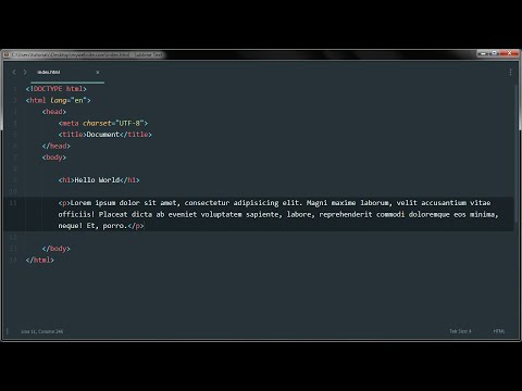 Learn HTML - Installing Sublime Text; a sophisticated text editor