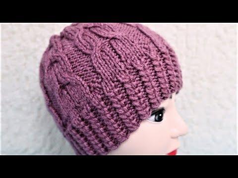 Видеоурок вязание женской шапки