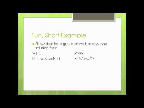 Modern Algebra (Abstract Algebra) Made Easy - Part 1 - Groups