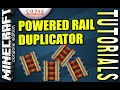 MINECRAFT - PS4 - POWERED RAIL DUPLICATOR - HOW TO - TUTORIAL ( PS3 / XBOX /PC )