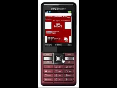 Sony Ericsson Naite web browsing