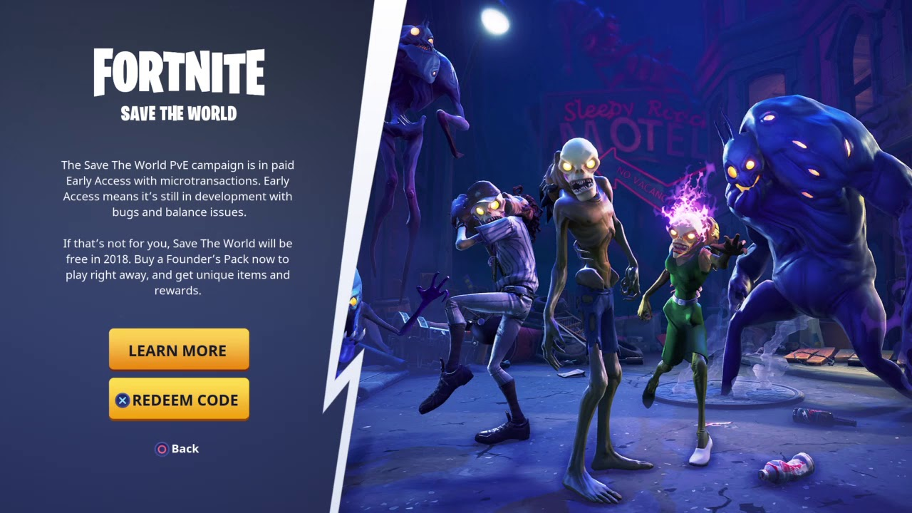 Free Save The World Fortnite Ps4 Xbox Pc Youtube