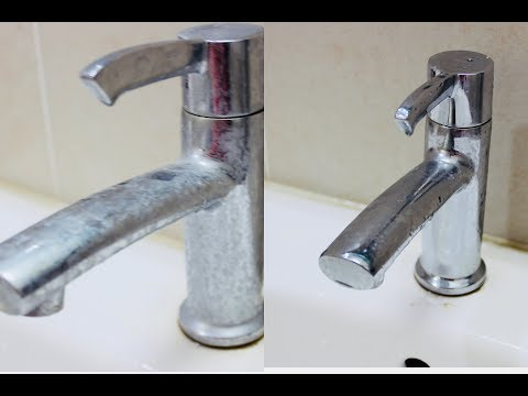how to clean hard water stains on taps ? | Cleanig using Vinegar #6