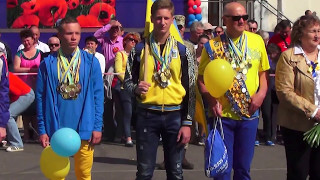 Парад 9 Мая 2017 в Новой Каховке (3 ч.)