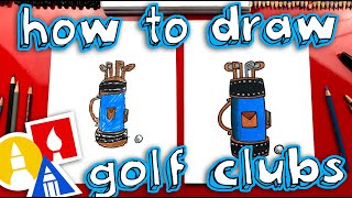 How To Draw A Golf Club Bag For Father's Day!