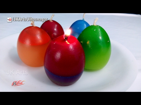 How to make Candles Using An Eggshell   Make Your Own Molds for candles   JK Arts 1178