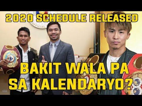 NO Manny PACQUIAO , John Riel CASIMERO ,  Naoya INOUE in 2020 BOXING SCHEDULES LEAKED