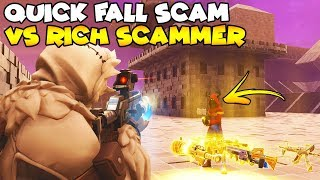 Quick Fall SCAM vs Richest Scammer! 😱 (Scammer Gets Scammed) Fortnite Save The World