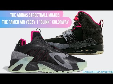 """The Adidas Streetball Mimics The Famed Air Yeezy 1 """"Blink"""" Colorway"""