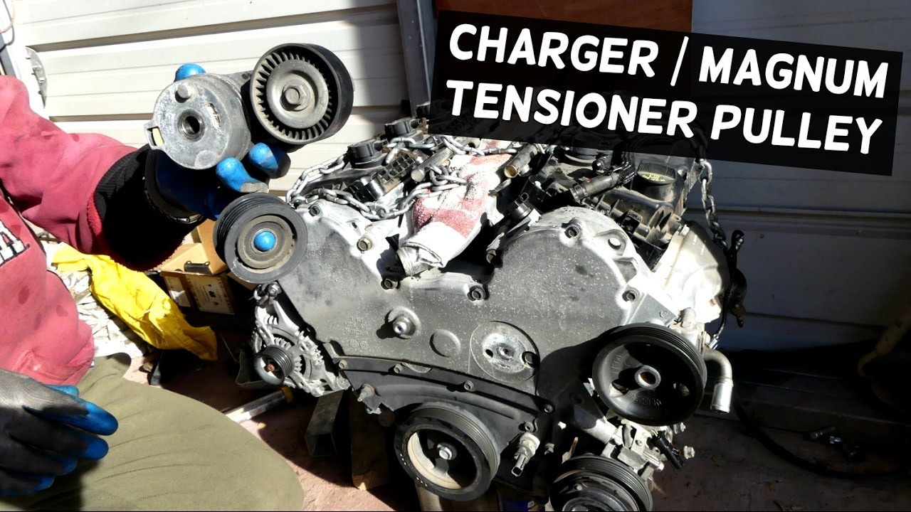 small resolution of dodge charger tensioner serpentine pulley replacement 3 5 dodge magnum