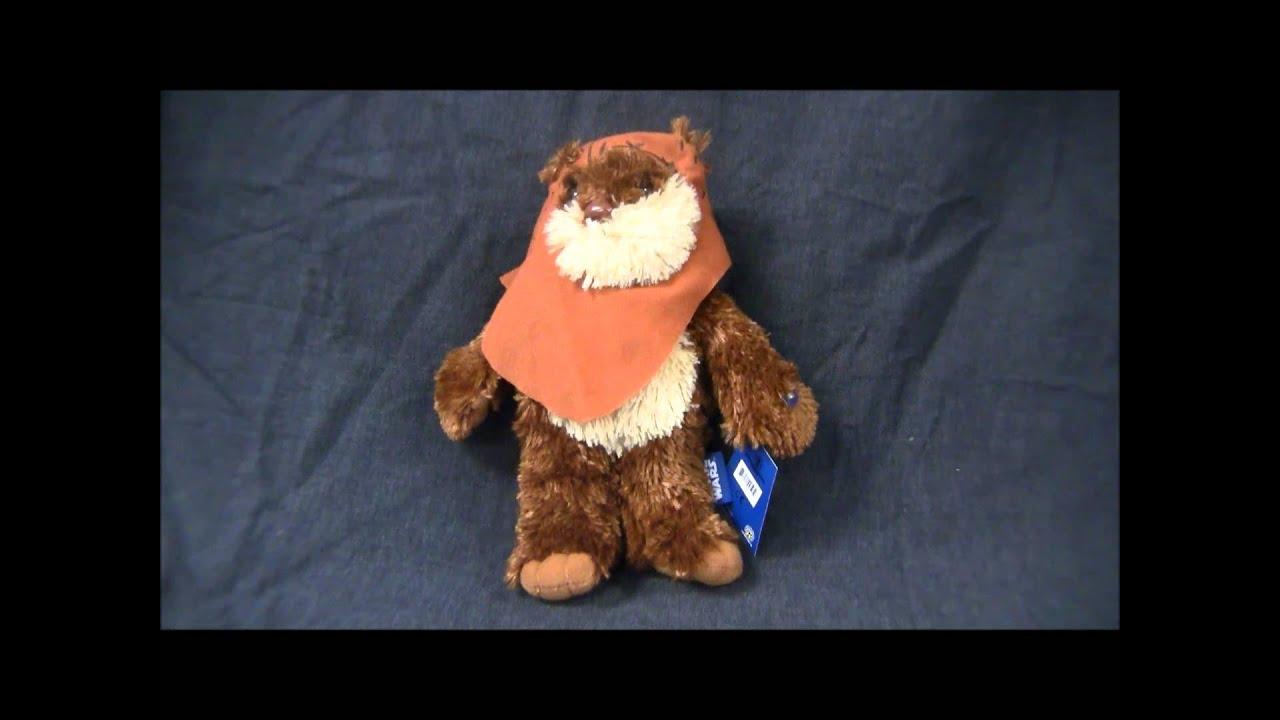 Star Wars Wicket Ewok 11 Talking Plush Ugt 00595 C Toynk Toys Youtube
