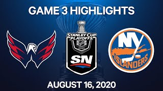 NHL Highlights | 1st Round, Game 3: Capitals vs. Islanders - Aug 16, 2020