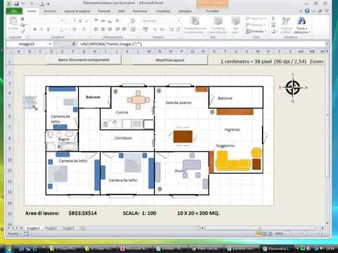 Creare Planimetrie Di Interni Con Excel