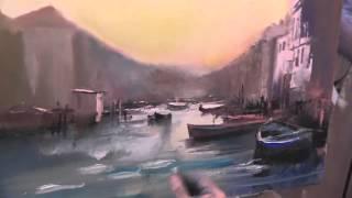 И.Сахаров .ПОЛНЫЙ видео урок живописи маслом . Венеция.
