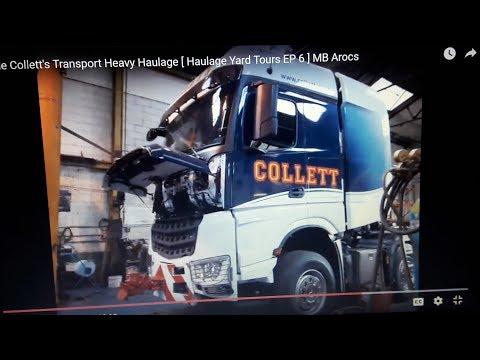 Inside Collett's Transport Heavy Haulage [ Haulage Yard Tours  EP 6 ] MB Arocs