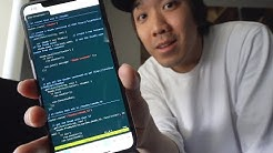 Coding a whole web app ONLY using my Phone.