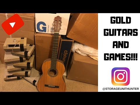 GOLD GUITARS AND GAMES FOUND AT STORAGE AUCTION!