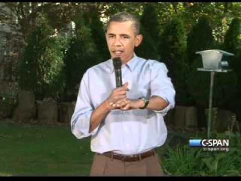 Pr. Obama - Iowa Backyard (2) Jobs Economy Debt - Des Moines