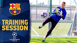 Fc barcelona returned to training after a rest day on friday with all the available players taking part tito vilanova field at ciutat esportiva jo...