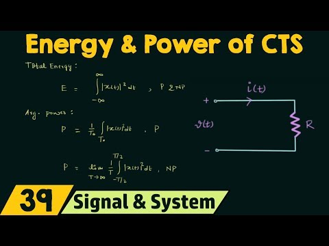Energy and Power of Continuous Time Signals