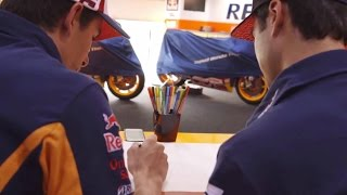 Can Dani Pedrosa and Marc Marquez draw their own bikes?