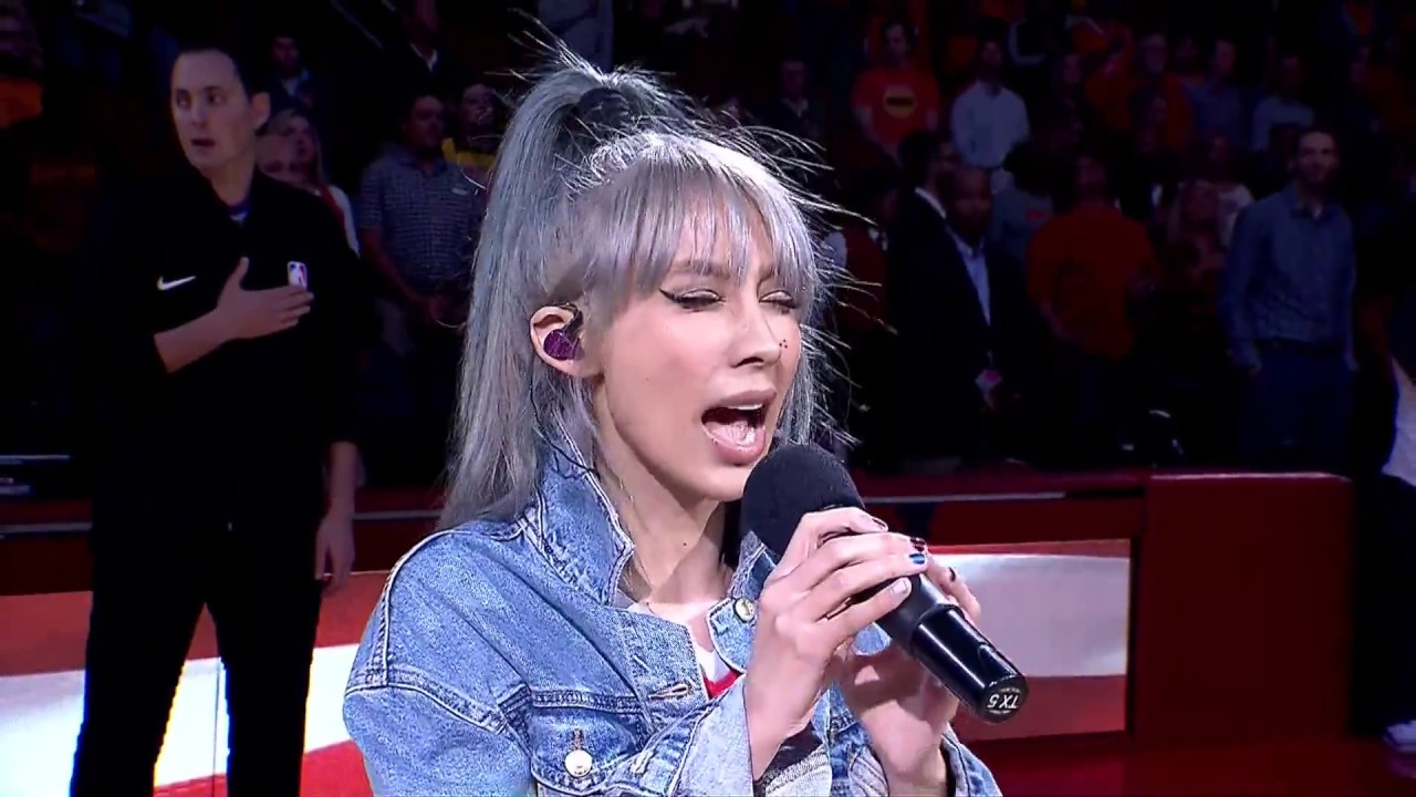 Houston Rockets Anthem Melissa Reese YouTube