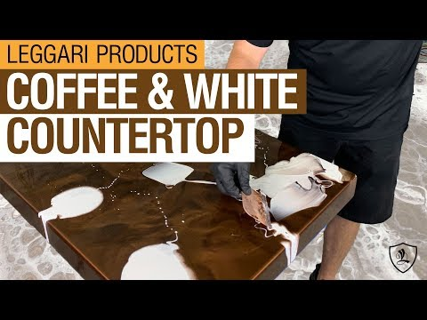 Coffee & White Epoxy Countertop | Kit 6
