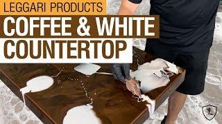 Coffee & White Epoxy Countertop   Kit 6