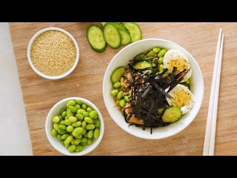 Vegetable and Seafood Grain Bowl- Healthy Appetite with Shir