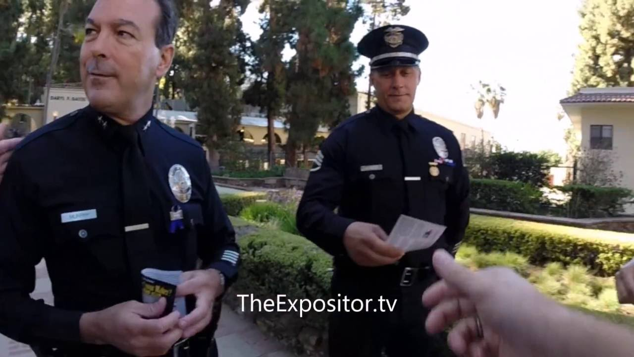 Evangelized the Grand Re-Opening of the LAPD Academy