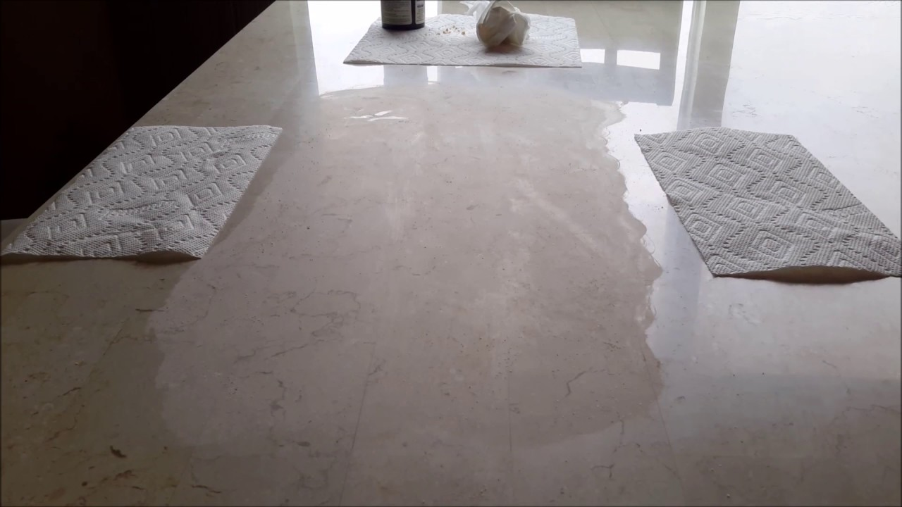 Removing Etching Water Marks From My Marble Table Using