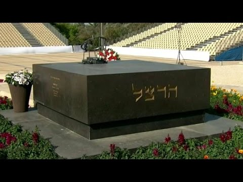 What is the significance of Shimon Peres' burial place?