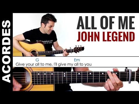 All Of Me - Acordes guitarra chords tutorial how to play clase