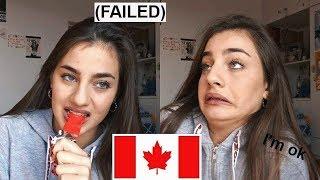 Δοκιμάζω ζαχαρωτά από τον Καναδά