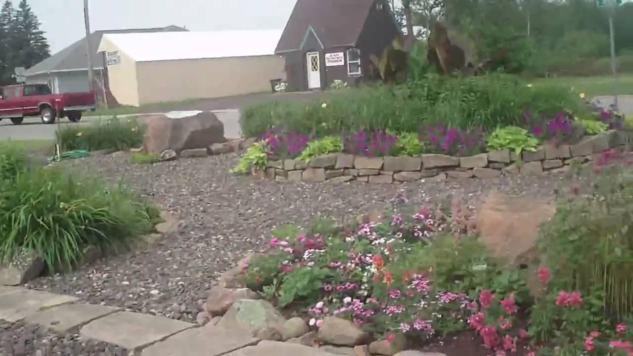 Sandstone Rock garden - YouTube