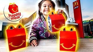 ELLE'S REACTION TO HER FIRST MCDONALD'S HAPPY MEAL!!! Video