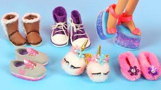 6 Farklı Kendin Yap Barbie Ayakkabısı Nasıl Yapılır? DIY BARBIE SHOES