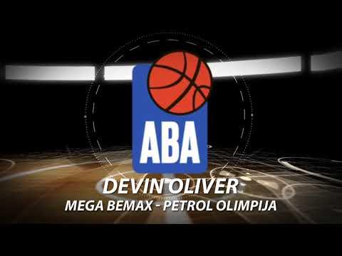 Devin Oliver with a block (Mega Bemax - Petrol Olimpija, 15.10.2017)