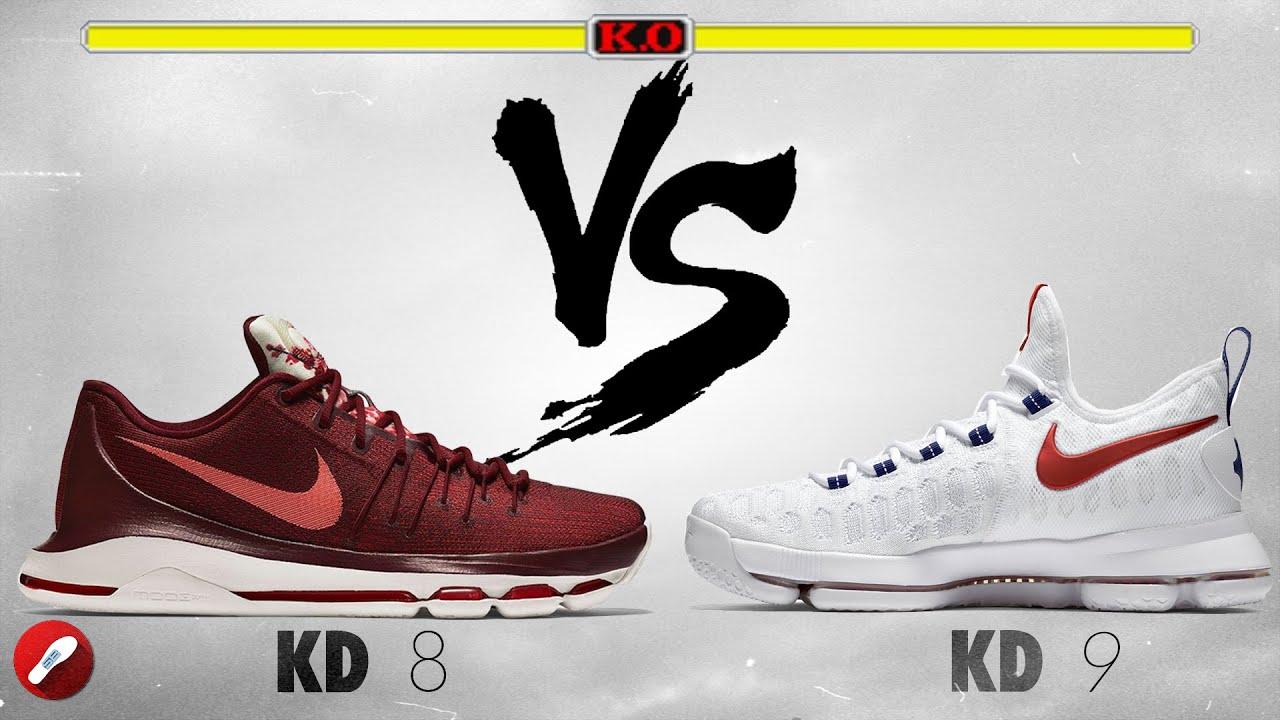 best cheap d85e2 dc96d Nike Kd 8 vs Nike Kd 9!