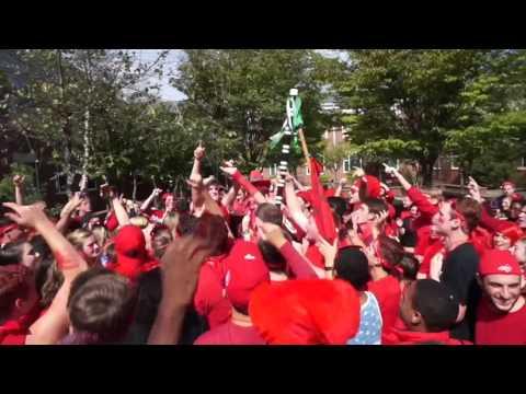 Jamestown high school Class of 2016 Senior Run and Pep-rally