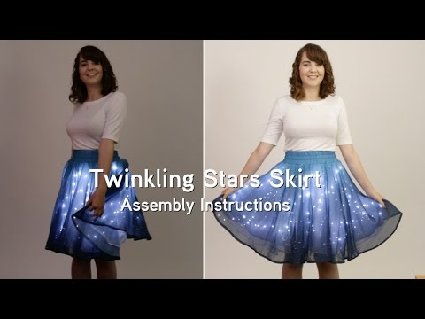 Twinkling Stars Skirt (Assembly Instructions) from ThinkGeek