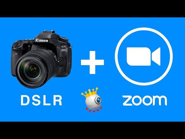 Cómo usar una CÁMARA DSLR como WEBCAM EN ZOOM | Sparkocam