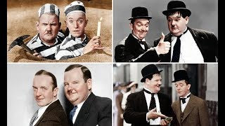 Colorized images of Stan Laurel and Oliver Hardy released before film - Daily News
