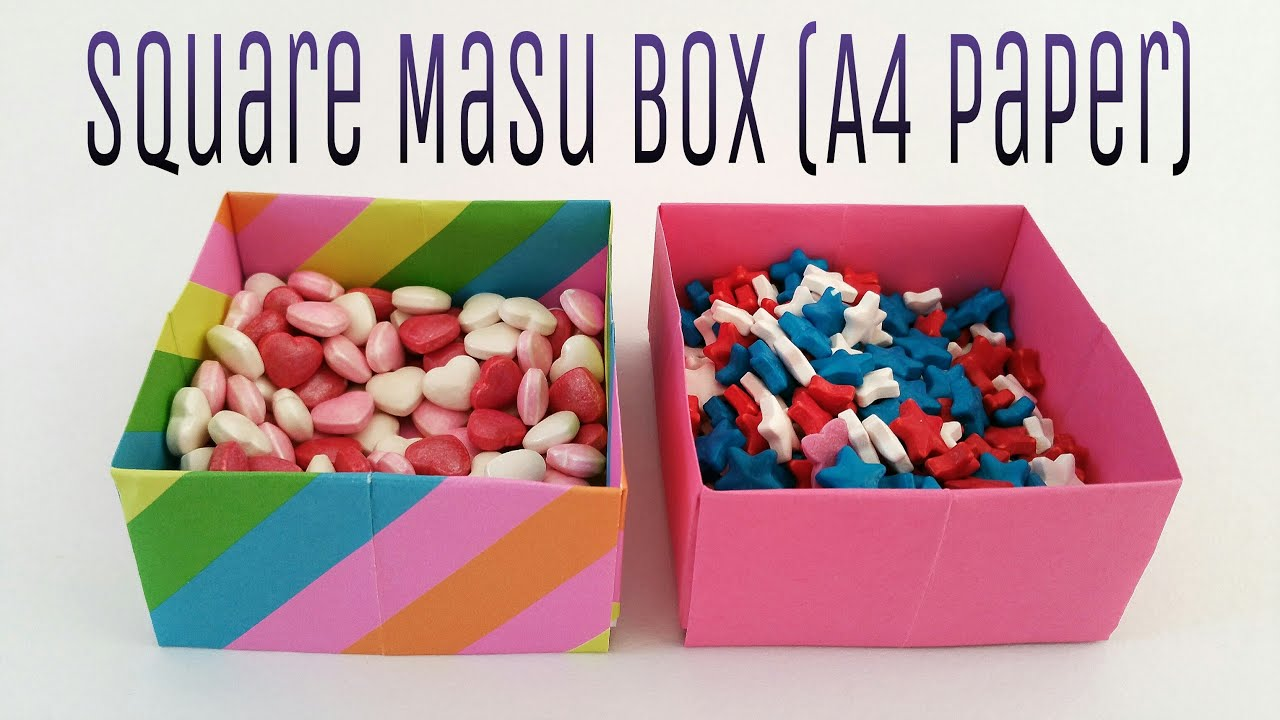 "How to make a ""Square Masu Box"" using A4 paper - Useful ... - photo#7"