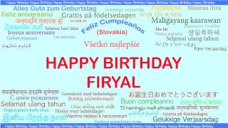 Firyal   Languages Idiomas - Happy Birthday