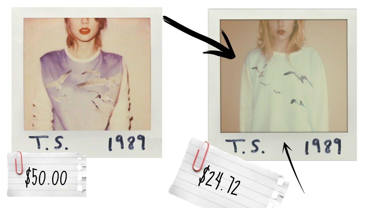 Taylor Swift 1989 Diy Sweatshirt Makeup Tutorial Youtube