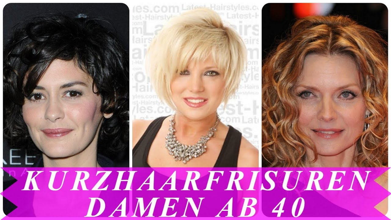 Kurzhaarfrisuren Trend 2018 Für Damen Ab 40 Youtube