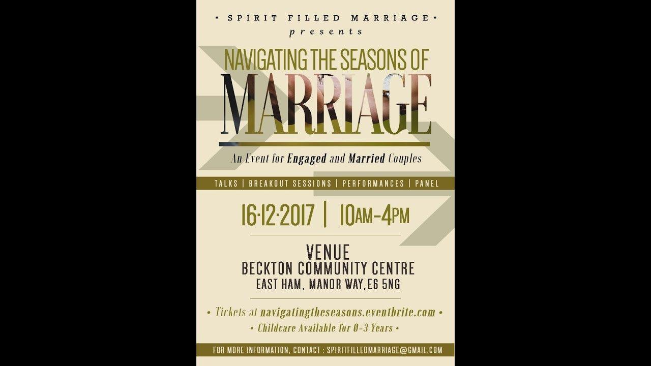 Navigating the seasons of Marriage - Spirit Filled Marriage Seminar ...