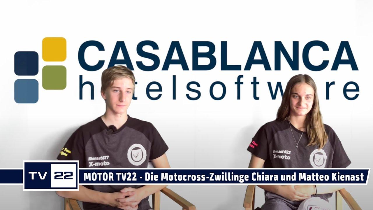 MOTOR TV22: Die beiden Motocross-Zwillinge Chiara und Matteo Kienast im TV22 Studio Interview