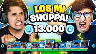 1vs1 CHI PERDE SHOPPA INTERO PASS BATTAGLIA 5 LIVELLO 100!!! SFIDA con LOSAMIGOS 🤯 FORTNITE ITA